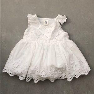 EUC 3-6 month Baby Gap white eyelet dress